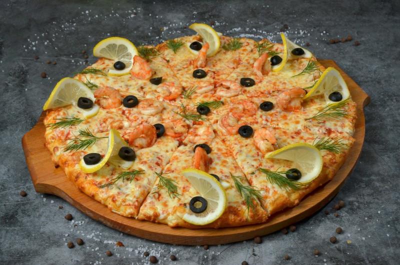 Пицца С креветками 40